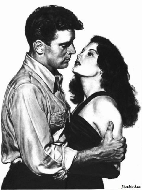 Burt Lancaster, Ava Gardner by Italicka